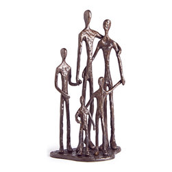 Danya B - Handcrafted Cast Bronze Commemorate Loving Family of Five Sculpture - This gorgeous Handcrafted Cast Bronze Commemorate Loving Family of Five Sculpture has the finest details and highest quality you will find anywhere! Handcrafted Cast Bronze Commemorate Loving Family of Five Sculpture is truly remarkable.