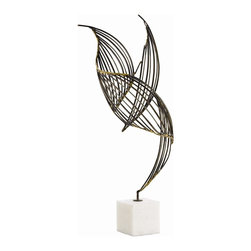 Arteriors - Cai Sculpture - Open House: This lovely sculpture provides a very inviting sensation of light and space in your home. Of course, it makes an intriguing addition to your office space, too.