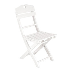 Achla - English Garden Chair - Offered in a rich white hue after traditional English garden furniture, our elegant garden chair will invite guests to dinner. Chairs have a typical Chippendale accent on back supports. Folds for convenience. White Enamel. Eucalyptus Hardwood. Knocked down for compact shipping and easy assembly. Coordinates with all English Garden Dining Set pieces. Construction Material: Eucalyptus Wood. No Assembly Required. 16 in. W x 20.5 in. D x 34 in. H (12 lbs.)
