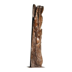 Jorasami Studios - Prayer then Tears - Original carved black walnut - One of a Kind