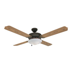 "Builder's Collection - Oil Rubbed Bronze 52"" Outdoor Ceiling Fan - Motor Finish: Oil Rubbed Bronze"