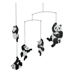 Flensted Mobiles - Panda Mobile - This panda mobile will appeal to those who view things in black and white — like newborns! It has a great contemporary feel that looks perfectly at home in modern interiors, yet symbolizes the importance of preserving an endangered species.