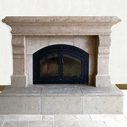 Tuscan Cast Stone Fireplace Mantel - Casted for cutiepatutie this Tuscan Mantel really captures the feel of cuties Northwest. Cast in Oak Flats color with a heavy pit texture. For more details and colors and textures see website. Also, see cutiepatuties comments in reviews.