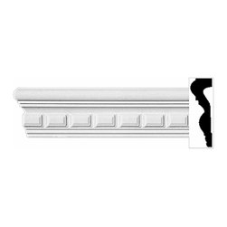 Renovators Supply - Crown Moldings White Urethane Oxford - Crown Molding - Ornate | 11653 - Crown Moldings: Made of virtually indestructible high-density urethane our crown molding is cast from steel molds guaranteeing the highest quality on the market. High-precision steel molds provide a higher quality pattern consistency, design clarity and overall strength and durability. Lightweight they are easily installed with no special skills. Unlike plaster or wood urethane is resistant to cracking, warping or peeling.  Factory-primed our crown molding is ready for finishing.  Measures 3 1/2 inch H x 96 inch L.