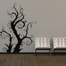 Whimsical Burtonesque Tree by Vinyl Wall Adornments - This is absolute perfection! It's like Sleepy Hollow, Nightmare Before Christmas and Beetlejuice all at once.