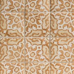 Duquesa Alexandra Decorative Tile in Ambra - Ceramic and Terracotta