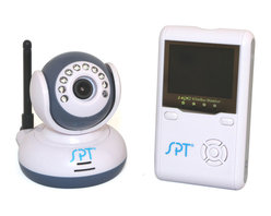 Sunpentown - 2.4GHz Wireless Digital Baby Monitor Kit - This 2.4GHz wireless digital monitor kit will provide parents the reassurance that their little ones are resting peacefully. Digital wireless technology provides excellent image and sound clarity. Infrared night vision for round the clock monitoring. 4-channel wireless monitoring solution supports up to 4 cameras. Up to 330 feet wireless transmission and built-in belt clip allows parents to move around the house freely.