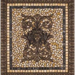 "Landmark Metalcoat - Landmark Metalcoat Grand Regency Mosaic Medallion 20""X18"" - All Landmark Metalcoat products are handcrafted made to order. Lead time 3-5 weeks."