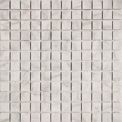 marblesystems - Avenza Honed Marble Mosaics - Natural marble mosaic tile that can be used on floors and walls.