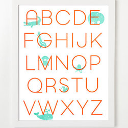 Letterpress Alphabet Art Print By SYCAMORE STREET PRESS - Wall art to make baby smile.
