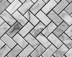 Stone & Co - Bianco Carrara 3/4 x 2 Honed Marble Herringbone Mosaic Tile - The Bianco Carrara collection or white Carrara Collection allows you to play with colors for your interior. Besides getting a lovely option of pure white on tile, this collection also features a white grey hue to try. With these two colors you can create a modern or classic looking theme in your home according to preference.Any plain looking house has a chance of being tweaked up by the right size and color in the Bianco Carrara or White Carrara collection. There is sophisticated inspiration about these tiles which will complement your high end European furniture, state of the art kitchen or a modernly designed bathroom. The possibilities of playing with size and color gives you an advantage of trying different options before deciding what suits you best.The Bianco Carrara floor tile collection not only upgrades your home, the ambience it creates speaks volume about your personality as well. Do you want your guests to go wow each time they walk into your home? Bianco Carrara collection is the renovation you are looking for!This collection is the answer to making your living room, kitchen or bathroom posh looking. The tiles are tough and durable, and we have the best experts to help you install the tiles.
