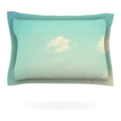"""Kess InHouse - Libertad Leal """"Cloud 9"""" Blue Sky Pillow Sham (Cotton, 40"""" x 20"""") - Pairing your already chic duvet cover with playful pillow shams is the perfect way to tie your bedroom together. There are endless possibilities to feed your artistic palette with these imaginative pillow shams. It will looks so elegant you won't want ruin the masterpiece you have created when you go to bed. Not only are these pillow shams nice to look at they are also made from a high quality cotton blend. They are so soft that they will elevate your sleep up to level that is beyond Cloud 9. We always print our goods with the highest quality printing process in order to maintain the integrity of the art that you are adeptly displaying. This means that you won't have to worry about your art fading or your sham loosing it's freshness."""