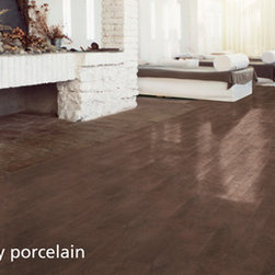 Porcelain Tile wood plank look -
