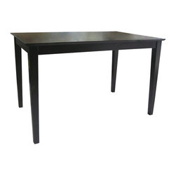 International Concepts - International Concepts Shaker Styled Table in Rich Mocha - International Concepts - Dining Tables - T153048S - This shaker styled table's classic design can fit into the decor any classic kitchen or dining room.