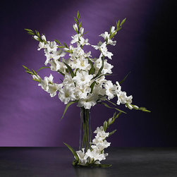 Nearly Natural - Artificial Gladiola Stems (Set of 12) - Bulbous blooms burst forth from their feathery green stems. A group of these in a vase will bring warmth to any area and best of all, they'll never need water.