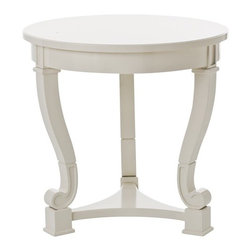 Arteriors - Dorothy Table - Off-white yet decidedly on target, this lovely lacquered wood table makes a perfect accent piece for your traditional decor. With its glossy finish, curved cabriole legs and scroll feet, it will add a distinctive look wherever you choose to place it.