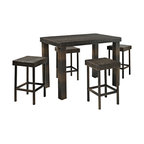 Crosley - Palm Harbor 5-Piece Outdoor Wicker High Dining Set - Table and Four Stools - Enjoy outdoor dining with our elegantly designed, all-weather wicker high dining set. This collection features clean-lines and is finely crafted with intricately woven wicker over durable steel frames, providing lasting resiliency to the weather. With enough table space and stools for a party of four, this set is sure to provide the utmost comfort and style in any setting. Includes dining table and four stools.