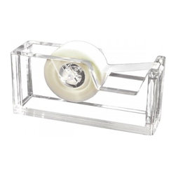 Lucite Tape Dispenser - A $22 tape dispenser may be a bit much, but when it looks as cool as this one, you'll consider the investment. Your cubicle will never be cooler.