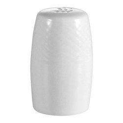 CAC China - Boston Pattern 2 1/8 Inch White Salt Shakers - Case of 48 - C.A.C. China provides durable dinnerware at all levels including super white porcelain, fine bone china, American white china, colored glaze china, and Asian style china. C.A.C China offers a variety of innovative shapes from square rectangular triangular wavy to round that will brighten up any table. All C.A.C China products are oven microwave and dishwasher safe.