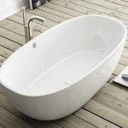 Victoria Albert Barcelona BAR-N-SW Freestanding Bathtub with Integral Base - Whi -