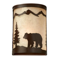Vaxcel Lighting - Vaxcel Lighting WS55708 Bozeman 1 Light Wall Sconce - Features: