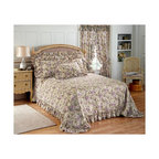 None - Plisse Bedspread and Sham Separates - Cool,crisp,lightweight plisse provides you with cover without the bulk and weight of quilted bed coverings. Ruffled border on bedspread,with shams available.