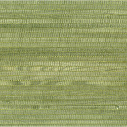 Mika Sage Grasscloth Wallpaper - Sage green grasscloth brings intrigue and texture to walls in an eco-chic bamboo.