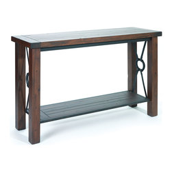 Hard Wood and Metal Sofa Table - Modern Lodge Collection