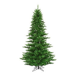 Vickerman Tinsel Green Fir Pre-lit Christmas Tree - The Vickerman Tinsel Green Fir Pre-lit Christmas Tree is a beautiful green fir tree that boasts a variety of features like sparkling tinsel to make your holiday special. The tree features PVC tips with hinged branch construction, as well as an on/off foot pedal switch for your convenience.Specifications for 14-foot tree Shape: Medium Base Width: 94 inches Number of Bulbs: 2250 Number of Tips: 6921Specifications for 12-foot tree Shape: Medium Base Width: 82 inches Number of Bulbs: 1650 Number of Tips: 4631Specifications for 10-foot tree Shape: Medium Base Width: 68 inches Number of Bulbs: 1150 Number of Tips: 2980Specifications for 9-foot tree Shape: Medium Base Width: 64 inches Number of Bulbs: 1000 Number of Tips: 2326Specifications for 7.5-foot tree Shape: Medium Base Width: 52 inches Number of Bulbs: 750 Number of Tips: 1634Specifications for 6.5-foot tree Shape: Medium Base Width: 46 inches Number of Bulbs: 600 Number of Tips: 1216Specifications for 5.5-foot tree Shape: Medium Base Width: 34 inches Number of Bulbs: 400 Number of Tips: 794Specifications for 4.5-foot tree Shape: Medium Base Width: 34 inches Number of Bulbs: 250 Number of Tips: 525 Specifications for 3-foot tree Shape: Medium Base Width: 25 inches Number of Bulbs: 100 Number of Tips: 234Don't Forget to Fluff!Simply start at the top and work in a spiral motion down the tree. For best results, you'll want to start from the inside and work out, making sure to touch every branch, positioning them up and down in a variety of ways, checking for any open spaces as you go.As you work your way down, the spiral motion will ensure that you won't have any gaps. And by touching every branch you'll create the desired full, natural look.About VickermanThis product is proudly made by Vickerman a leader in high quality holiday decor. Founded in 1940, the Vickerman Company has established itself as an innovative company dedicated to exceeding the expectations of th