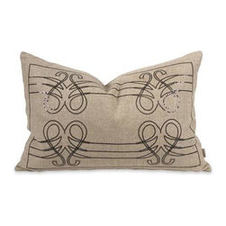 IK Operetta Sequin Pillow with Down Insert - Musically inspired, the Operetta pillow features a sequin design over a linen cover that hits the right note with down fill. Designed by Iffat Khan.