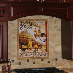 mediterranean kitchen tile by Linda Paul