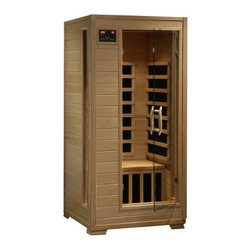 Radiant Sauna 1 Person Ceramic Infrared Sauna - The Radiant Sauna 1 Person Ceramic Infrared Sauna is the perfect way to reward yourself with relaxation and healty living right in the comfort of your home. It has a CD Player, AUX mp3 connection, built-in speakers, and 3 ceramic heaters to evenly distribute 5-12 microns of infared wavelengths which are advantageous to the body. Simply plug this gorgeous 1-person sauna, made of hemlock wood with tongue and groove contruction, into any outlet in your home.About SplashNet XpressSplashNet Xpress is dedicated to providing consumers with safe, high-quality pool products delivered in a fast and friendly manner. While it's adding new product lines all the time, SplashNet Xpress already handles pool maintenance items, toys and games, cleaning and maintenance devices, solar products, and aboveground pools.