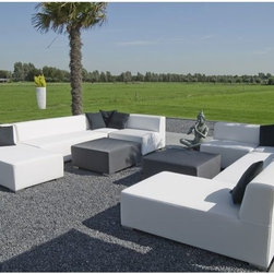 Block 90 Outdoor Sectional Seating - The simplistic, modern design of the modular Block 90 collection gives you the diversity to create a multitude of seating arrangements.