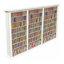 Venture Horizon - VHZ Entertainment Large Triple Multimedia Storage Rack - Features: -Media storage of 2262 CD''s, 936 DVD''s, 528 VHS, or 456 oversized (Disney) VHS. -Adjustable shelving. -Lighter & less expensive than the competition. -Choose to assemble any tower with or without the decorative top molding depending upon the look you want. You may have seen other Media Storage Towers in your journeys but you have never come across the styling, variety, storage capacity or value for the money. The Media Storage Towers will indeed hold an entire media collection and then some.