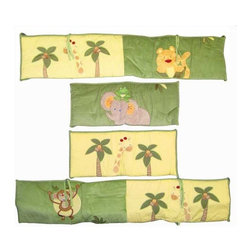 NoJo - NoJo Jungle Babies Traditional Padded Bumper - 3544002 - Shop for Crib Bumper Pads from Hayneedle.com! A monkey elephant and giraffe all babies themselves are the perfect company for protecting your baby with the NoJo Jungle Babies Traditional Padded Bumper. This four-piece bumper with two long sides and two short sides fit most standard cribs and is machine washable.About NoJoOffering fashionable safe and reliable products throughout the United States for the past 40 years NoJo's goal is to offer fashion-forward infant and toddler bedding blankets and accessories that meet the demands of today's modern lifestyle. NoJo puts not only style into their products but comfort and safety too.