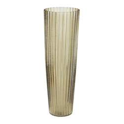 Lazy Susan - Lazy Susan 464050 Champagne Fizz Fluted Vase - There are times in life when nothing but a glass of Champagne will do. And then there are others, when nothing but a glass of Champagne will do. In other words, anything resembling Champagne is always in order, including your home decor. This glass vase resembles a lovely flute and holds your flower arrangements with as much prestige as a glass of the bubbly.