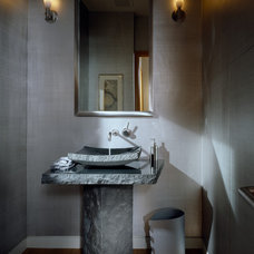 Contemporary Powder Room by Lawrence Architecture