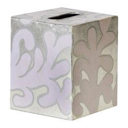 Worlds Away Kleenex Box Lavendar and Silver Pattern - Worlds Away Kleenex Box Lavendar and Silver Pattern