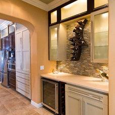 Modern Wine Cellar by Sweetlake Interior Design LLC