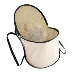 Phil & Teds - phil&teds Nest Portable Baby Bed & Bassinet - Beige Multicolor - NE_V1_99_200_US - Shop for Playpens from Hayneedle.com! Forget bulky baby bags and bassinets and baskets - phil&teds Nest - Beige lets you tote your baby's necessities and napping spot all in one convenient bag. Crafted with durable breathable fabric this set includes a dual-storage bag. In one side is room for clothes diapers bottles and blankets and in the other is the innovative Nest bed. The quick pop-up bed boasts a softly contoured design a perforated base a snug-fitting mattress pad with excellent posture support and a sheer mesh cover that zips across the top to protect your baby outdoors. Flexible side supports keep the Nest in place when popped up and handles make the Nest easy to carry. When collapsed the handles snap-lock together to keep the Nest and base in a tidy bundle inside the storage bag.Additional FeaturesLightweight and easy to store in overhead compartmentsContoured base with perforation for good air flowSnug-fitting supportive mattress padSheer mesh cover zips at top for protectionBag dimensions: 31L x 17W x 5H inchesAbout phil&tedsBased in New Zealand phil&teds extraordinary line of functional durable baby products are sold in 50 countries worldwide. Their products are exceedingly tested for safety durability toxicity environmental impact flammability you name it and they exceed the safety standards in every country they're sold. phil&teds unique combination of intelligent design rigorous safety testing and industrial hardware makes them some of the highest quality most versatile and reliable products available for active urban moms and dads.
