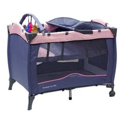 Dream on Me Fullsize Play Yard with Changing Table - Pink