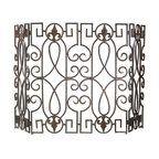 Wrought Iron Fire Screen - *Wrought Iron Fire Screen