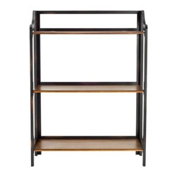 Safavieh - Safavieh James Bookshelf X-A3204HMA - Spare but full of life, the modest James bookshelf has a masculine energy that doesn't overpower. Three shelves, in a contrasting Honey-colored Wood, and an open back and sides lend James an airy appeal. Minor assembly required.