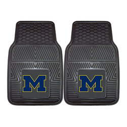 Fanmats - Fanmats Michigan 2-piece Vinyl Car Mats - Protect your cargo and your vehicles flooring while showing your University of Michigan spirit by using this two-piece vinyl car mat. Its pure vinyl construction promises longevity, while its universal fit makes it suitable for trucks, cars, and more.