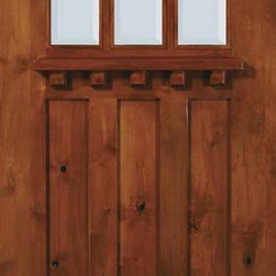 "Slab Single Door 80 Wood Alder Craftsman 3 Panel 6 Lite TDL Glass - SKU#    ED6342DC-GBrand    GlassCraftDoor Type    ExteriorManufacturer Collection    Craftsman DoorsDoor Model    Craftsman 6 LiteDoor Material    WoodWoodgrain    Knotty AlderVeneer    Price    625Door Size Options      +$percent  +$percentCore Type    Door Style    CraftsmanDoor Lite Style    6 LiteDoor Panel Style    3 PanelHome Style Matching    CraftsmanDoor Construction    TDLPrehanging Options    SlabPrehung Configuration    Single DoorDoor Thickness (Inches)    1.75Glass Thickness (Inches)    Glass Type    Double GlazedGlass Caming    Glass Features    Low-E , Tempered ,  Low-E , BeveledGlass Style    Glass Texture    ClearGlass Obscurity    No ObscurityDoor Features    Door Approvals    Wind-load Rated , SFI , TCEQ , AMD , NFRC-IG , IRC , NFRC-Safety GlassDoor Finishes    Door Accessories    Weight (lbs)    248Crating Size    25"" (w)x 108"" (l)x 52"" (h)Lead Time    Slab Doors: 7 daysPrehung:14 daysPrefinished, PreHung:21 daysWarranty    One (1) year limited warranty for all unfinished wood doorsOne (1) year limited warranty for all factory?finished wood doors"