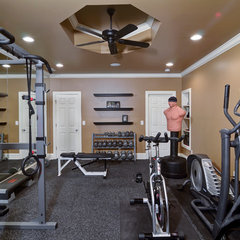 traditional home gym by Home Expressions Interiors by Laura Bloom Inc.