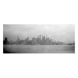Custom Photo Factory - Vintage Image of New York City Skyline From River Canvas Wall Art - Vintage Image of New York City Skyline From River  Size: 20 Inches x 30 Inches . Ready to Hang on 1.5 Inch Thick Wooden Frame. 30 Day Money Back Guarantee. Made in America-Los Angeles, CA. High Quality, Archival Museum Grade Canvas. Will last 150 Plus Years Without Fading. High quality canvas art print using archival inks and museum grade canvas. Archival quality canvas print will last over 150 years without fading. Canvas reproduction comes in different sizes. Gallery-wrapped style: the entire print is wrapped around 1.5 inch thick wooden frame. We use the highest quality pine wood available. By purchasing this canvas art photo, you agree it's for personal use only and it's not for republication, re-transmission, reproduction or other use.
