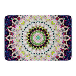 "KESS InHouse - Iris Lehnhardt ""Summer of Folklore"" Pink Navy Memory Foam Bath Mat (24"" x 36"") - These super absorbent bath mats will add comfort and style to your bathroom. These memory foam mats will feel like you are in a spa every time you step out of the shower. Available in two sizes, 17"" x 24"" and 24"" x 36"", with a .5"" thickness and non skid backing, these will fit every style of bathroom. Add comfort like never before in front of your vanity, sink, bathtub, shower or even laundry room. Machine wash cold, gentle cycle, tumble dry low or lay flat to dry. Printed on single side."