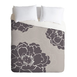 DENY Designs - Caroline Okun Winter Peony Duvet Cover - Turn your basic, boring down comforter into the super stylish focal point of your bedroom. Our Luxe Duvet is made from a heavy-weight luxurious woven polyester with a 50% cotton/50% polyester cream bottom. It also includes a hidden zipper with interior corner ties to secure your comforter. it's comfy, fade-resistant, and custom printed for each and every customer.
