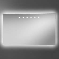 Artelinea - Artelinea | Power LED + Diffusion Mirror - Made in Italy by Artelinea.The Power LED + Diffusion Mirror offers premium reflections with the perfect LED illumination. The straight-edged mirror provides optimal lighting for both daily tasks and ambiance lighting alike with its LED spots along the top and light diffuser from behind the mirror. Select from a plethora of size options to fit your exact design needs. Product Features: